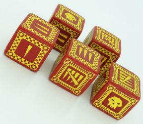 Red & Yellow D6 Ork Dice Set